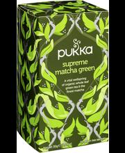 Pukka 20x1,5g Supreme matcha green tee luomu reilu kauppa