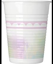 Yksisarvinen Pink Muovimuki 8KPL