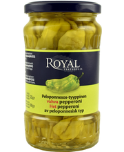 Royal 325/180g Peloponnesos-tyyppinen vahva vihreä pepperoni