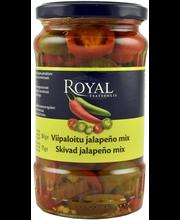 Royal 360/175g viipaloitu vihreä ja punainen jalapeno mix