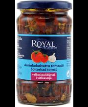 Royal 330/200g aurinkokuivattu tomaatti valkosipuliöljyssä