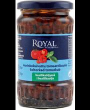 Royal 330/200g aurinkokuivattu tomaattikuutio basilikaöljyssä