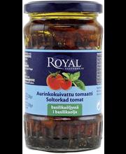 Royal 330/200g aurinkokuivattu tomaatti basilikaöljyssä