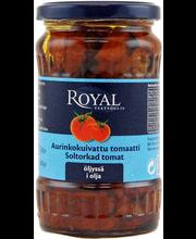 Royal 330/200g aurinkokuivattu tomaatti öljyssä