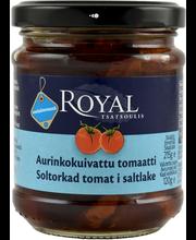 Royal 215/120g aurinkokuivattu tomaatti suolaliemessä