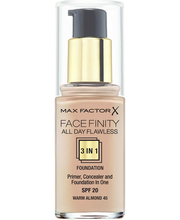 Max Factor Facefinity All Day Flawless 3in1 Foundation 45 Warm Almond