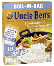 Uncle Ben's 4x125g pitkäjyväinen riisi keitinpusseissa