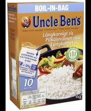 Uncle Ben's 8x125g pitkäjyväinen riisi keitinpusseissa