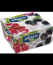 Alpro 2x(2x125g) Karhunvatukka/Vadelma-Karpalo soijavalmiste