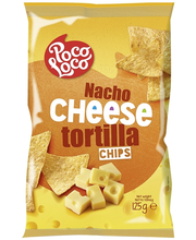 Poco Loco 125g Nacho Cheese tortilla chips juustonmakuinen maissilastu
