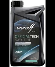 Wolf 5W-30 LL III Official Tech moottoriöljy 1 L