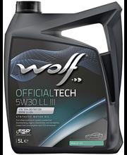 Wolf 5W-30 LL III Official Tech moottoriöljy 5 L