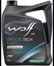 Wolf 5W-30 C3 Official Tech moottoriöljy 5 L