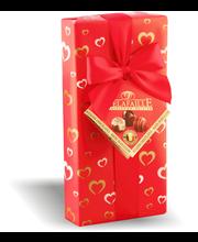 Delafaille 100g Valentine konvehtilahjarasia maito,- valko- ja tummasuklaa täytekonvehteja