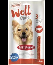 BF WellDone härkä 3-pack 45g koiran pihvitikku