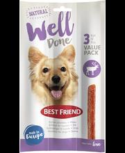 BF WellDone riista 3-pack 45g koiran pihvitikku
