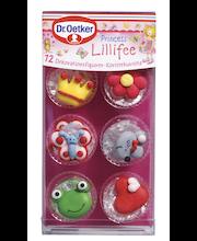 Dr. Oetker 14 g 12 Prinsess Lillifee koristekuviota