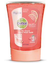 Dettol 250ml Grapefruit No Touch nestesaippua täyttö
