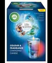 Air Wick 30h Life Scents Turquoise Oasis Väriävaihtava Tuoksukynttilä
