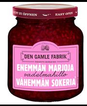 Den Gamle Fabrik 290g sokerilla ja makeutusaineella makeutettu Vadelmahillo