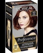 L Oréal Paris Préférence Infinia 4.5 Riviera Mahogany Brown Tumma  mahonginruskea kestoväri cb9de02a4a