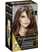 L'Oréal Paris Préférence Infinia 5 Lisbon Natural Light Brown Vaaleanruskea kestoväri