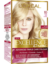 L'Oréal Paris Excellence Creme 10 Extra Light Blonde Kirkas Vaalea Kestoväri