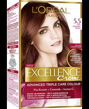 L'Oréal Paris Excellence Creme 5.5 Light Mahogany Brown Mahonginruskea Kestoväri