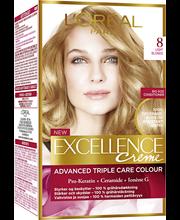 L'Oréal Paris Excellence Creme 8 Natural Light Blonde Keskivaalea Kestoväri