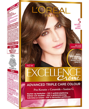L'Oréal Paris Excellence Creme 5 Natural Light Brown Ruskea Kestoväri