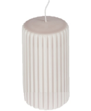 Grooved pillar candle,...