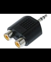 Qnect audioadapteri 3.5mm uros - 2RCA naaras