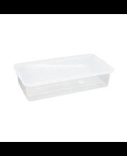 Plast1 Sängynaluslaatikko, kirkas 80x40x17 cm