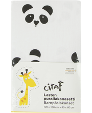 Ciraf Panda pussilakanasetti 120x160cm