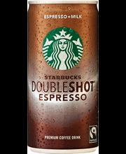 Starbucks 200 ml Doubleshot Espresso & Milk  steriloitu maito- ja kahvijuoma