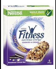 Nestlé Fitness 6x23.5g cookies&cream viljavälipalapatukka