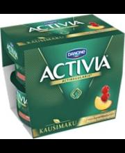 Danone Activia persikka-vadelmajogurtti 4x125g