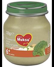 Nutricia Muksu 125g Parskaali & kasvis-kalkkunarisotto 6kk