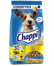 CHAPPI 9kg Siipikarjaa & kasviksia, täysrehua aikuisille koirille