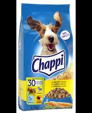 CHAPPI 2,7kg Siipikarjaa & kasviksia, täysrehua aikuisille koirille