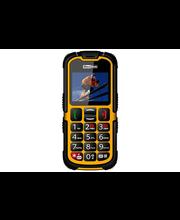 Maxcom MM910 Strong matkapuhelin SOS-turvapainikkeella, keltainen