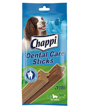 Chappi 175g Dental Care sticks medium, täydennysrehua yli 4 kk:n ikäisille koirille, 10-25kg