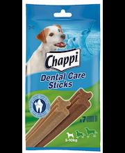 Chappi 110g Dental Care sticks small, täydennysrehua yli 4kk:n ikäisille koirille, 5-10 kg