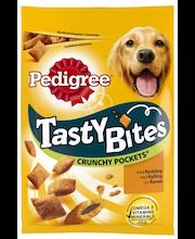 Pedigree TB 95g Crunchy Pockets sis kanaa, täydennysrehua aikuisille koirille