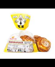 Perheleipuri Salonen Murikkapulla, rahka-jogurtti 4 kpl 320 g rahka-jogurttitäytteinen pulla