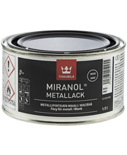 Tikkurila Miranol Metallack 1/3l Musta