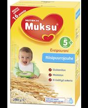Muksu 200g riisipuurojauhe 5 kk