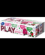 Valio Play jogurtti 8x125 g mansikka/vadelma laktoositon
