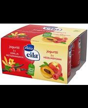 Valio Eila jogurtti 4x125 g hedelmäpommi/vanilja-metsämansikka laktoositon