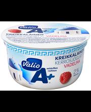 Valio A+ kreikkalainen kerrosjogurtti 150 g vadelma laktoositon
